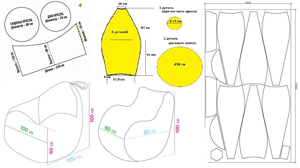 Образец выкройки кресла