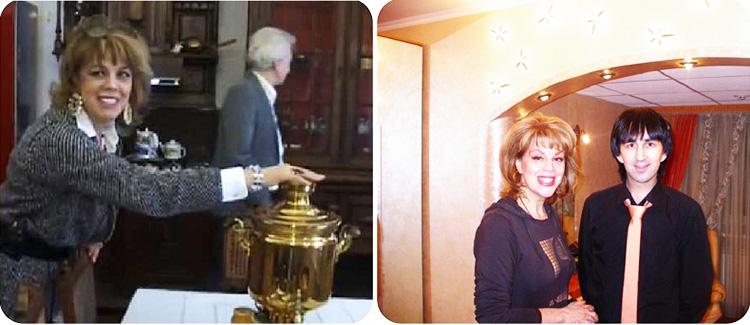 В гостиной поставили антикварный буфет из массива, за стеклянными дверцами которого хранится коллекционная столовая посуда
