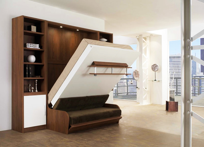 Трансформация мебели – требование к обстановке в этом стиле