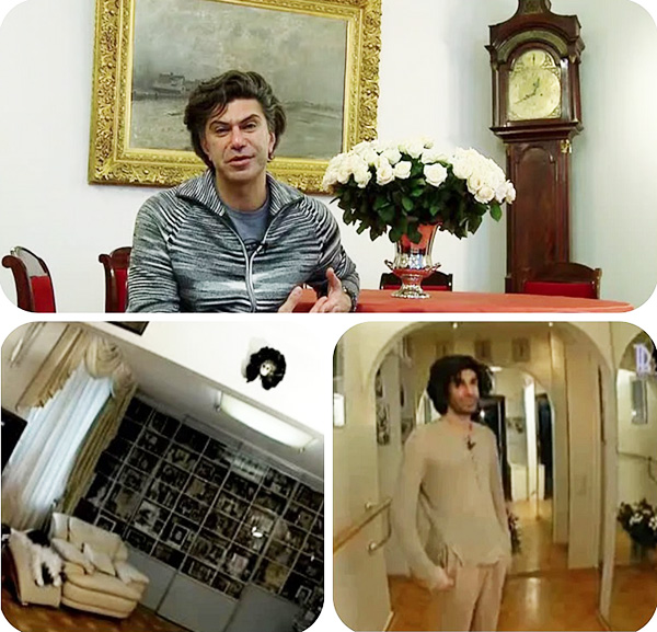 Возле стены между холлом и гостиной Николай Цискаридзе установил балетный станок