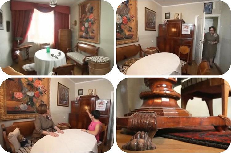 Дизайнеры решили оставить обеденную группу из столовой зоны, изготовленную из красного дерева в 19 веке