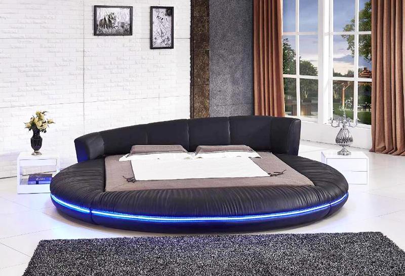 Особенности круглых кроватей и их расположения в интерьере