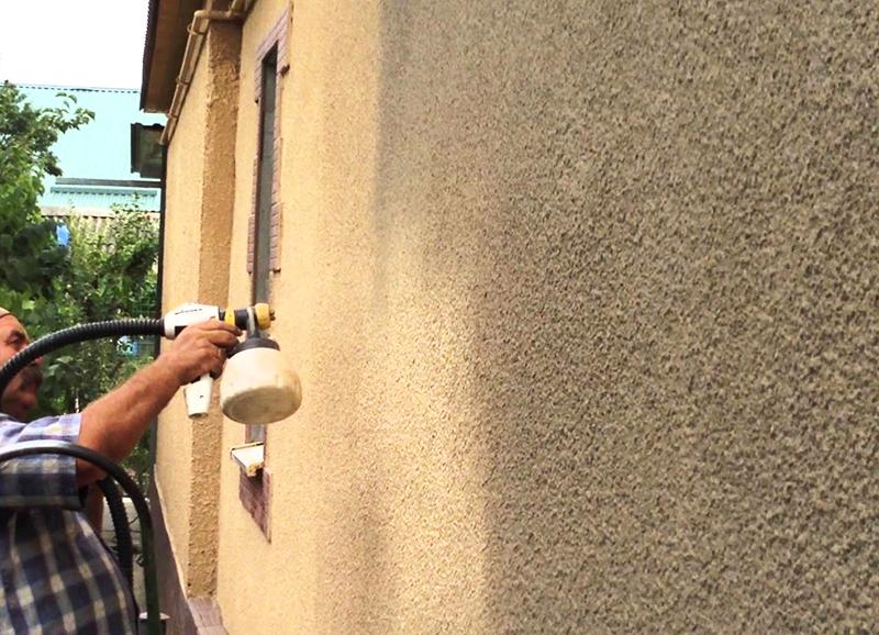 Очень часто можно встретить отделку стен из мергеля шубой со шлаком способом напыления