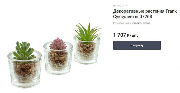 Размеры: диаметр 6×6 см, в комплекте − 3 растения