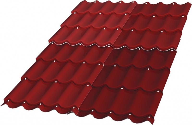 Саморезы на металлочерепицы ставят под выступом верхней волны и в шахматном порядке