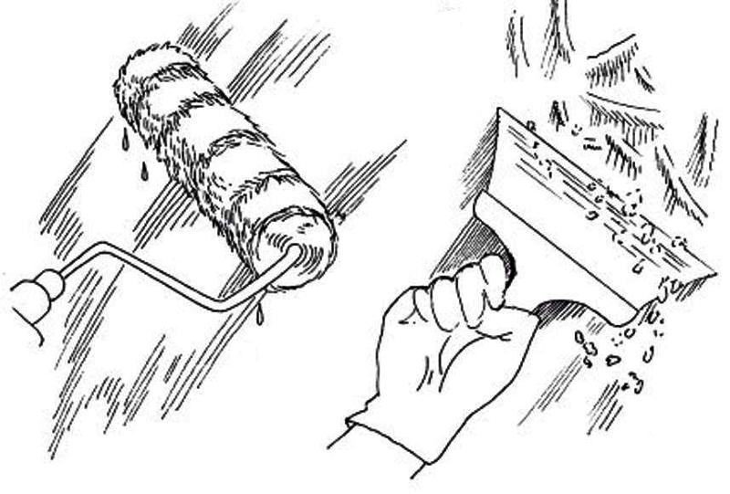 Инструменты для снятия старой побелки
