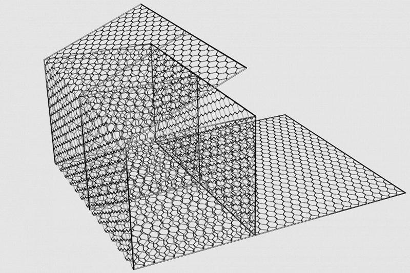 Конструкция контейнера для коробчатого габиона