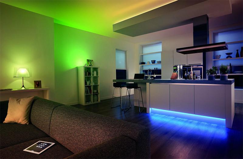 Светодиодные светильники способны менять цветовую гамму для создания особого настроения