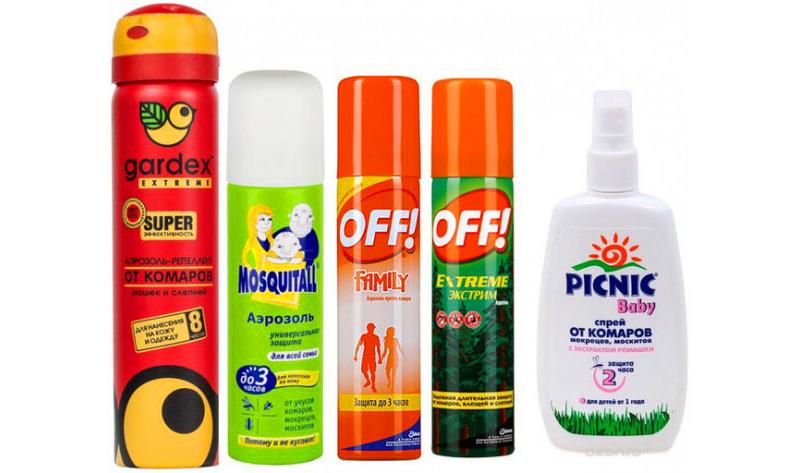 Синтетические средства индивидуальной защиты от комаров