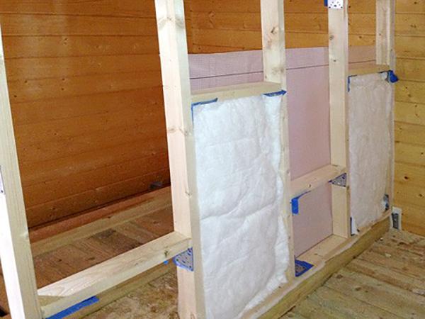 Звукоизоляция стен на предварительной обрешётке