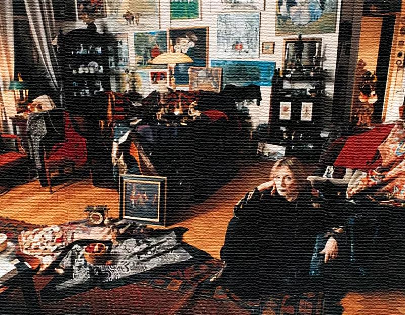 Идеальная гармония Аллы Демидовой: много книг, картин, мягкие кресла