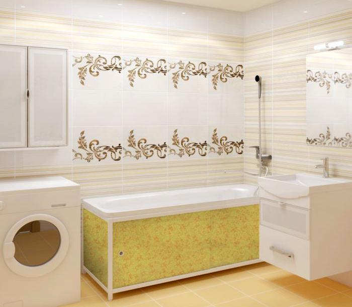 Отделка плёнкой ванной комнаты