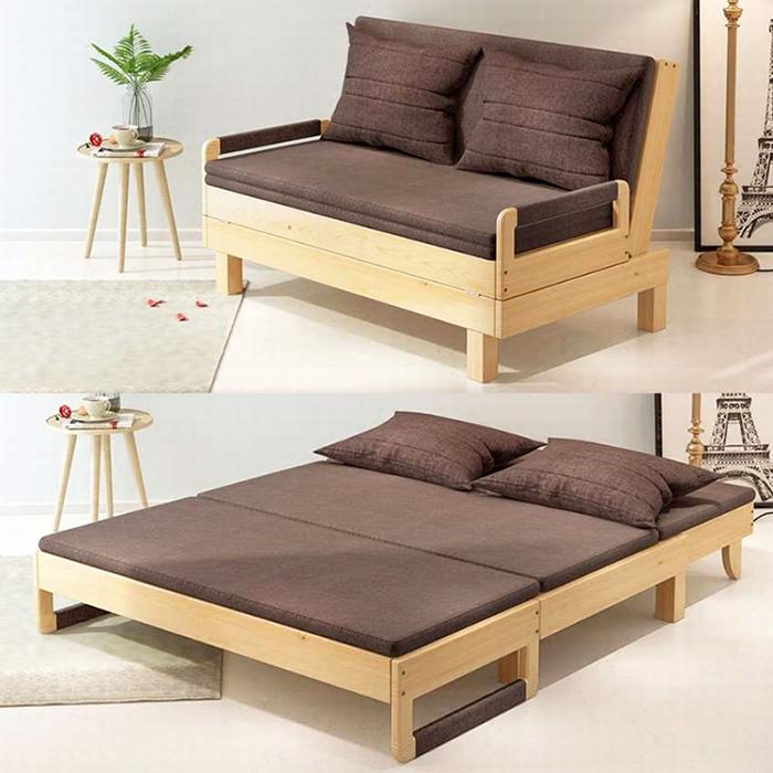 Самодельный раскладной диван-кровать