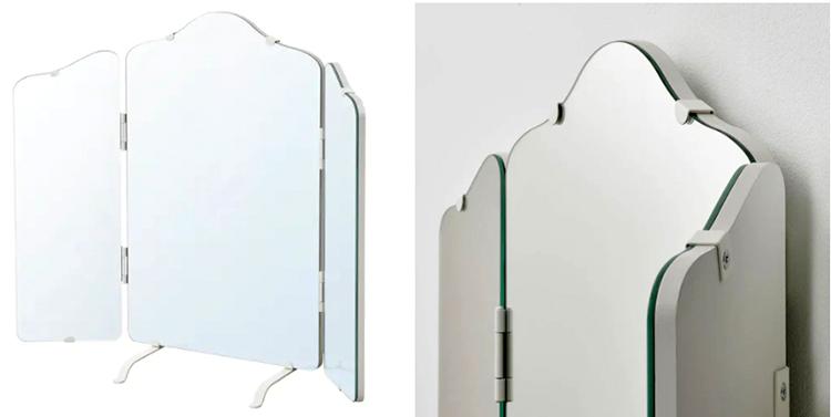 Трёхстворчатое зеркало позволяет увидеть своё отражение с разных углов
