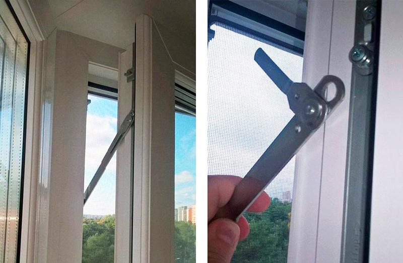 Фурнитурный ограничитель раскрытия окна