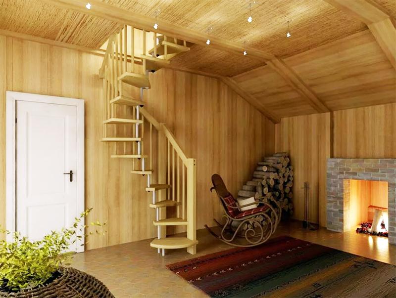 Но эксплуатация таких конструкций вызовет массу неудобств: вы не сможете поднять по такой лестнице мебель, она небезопасна для детей и пожилых членов семьи