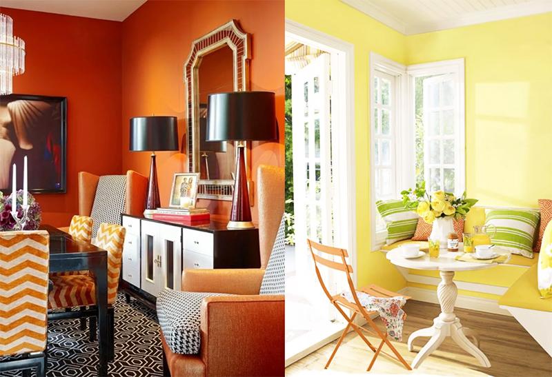 Если вас преследует нехватка солнечного света в интерьере, лучше замените оранжевый любым (лучше не слишком насыщенным) оттенком жёлтого