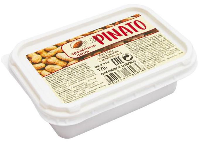 Cостав: жареный арахис протёртый, масло растительное, сахар, соль
