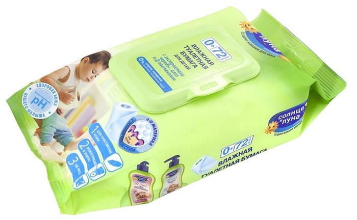 Одна упаковка содержит 72 влажные салфетки