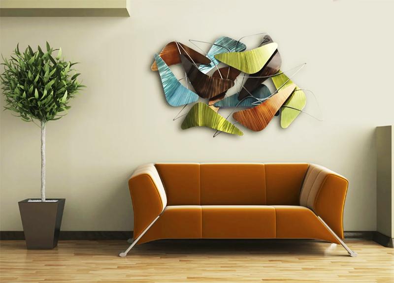 Интересные идеи для оформления стены над диваном